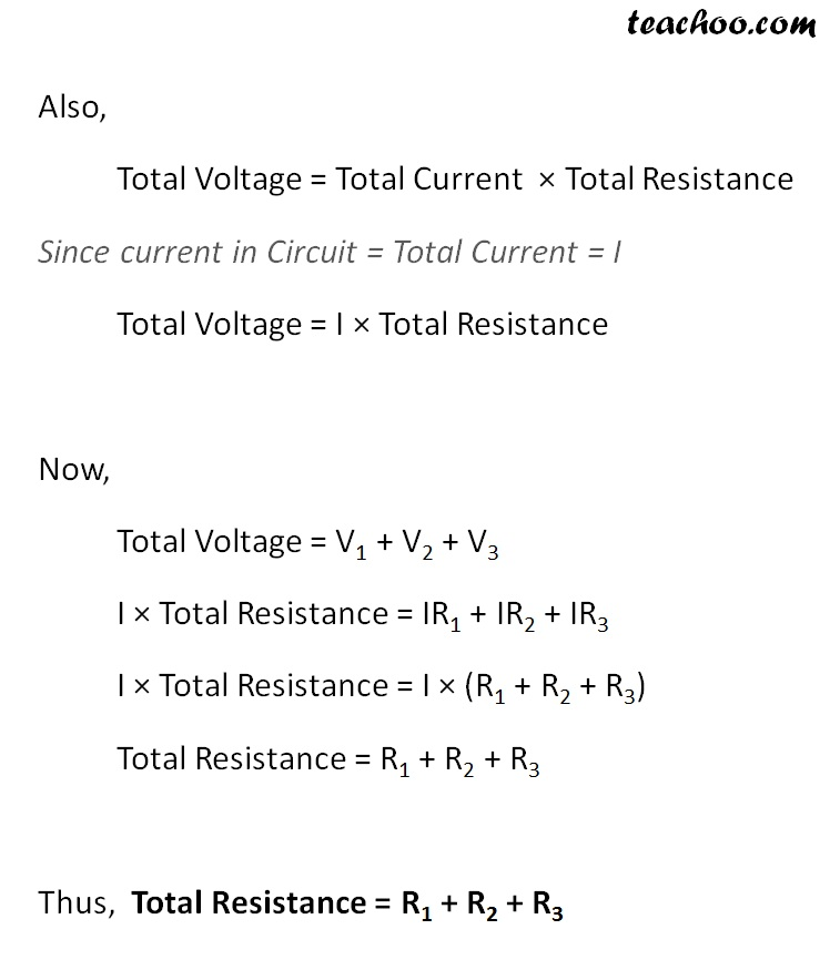How is the Resistanve formula dervived - for the series circuits - Part 2 -  Teachoo.jpg